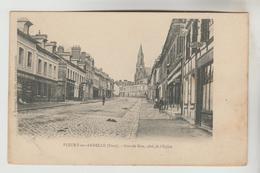 CPA PIONNIERE FLEURY SUR ANDELLE (Eure) - Grande Rue, Côté De L'Eglise - France