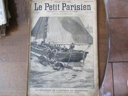 LE PETIT PARISIEN DU 5 AOUT 1894 LA TRAVERSEE DE LA MANCHE EN VELOCIPEDE,LE CHATEAU DE PONT SUR SEINE,UN DIMANCHE A LA C - Journaux - Quotidiens