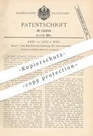 Original Patent - Josef Von Götz , Wien , Österreich , 1900 , Sperre Und Auslöser Für Vorschaltwerk   Bahnschranke !!! - Historische Dokumente