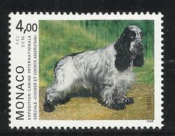MONACO , 4 Frs , Exposition Canine De Monte-Carlo , Spéciale Cocker & Cocker Américain , 1995 , N° YT 1980 , NEUF ** - Monaco