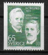 SUEDE  N° 714 * *  Prix Nobel  Medecine Gullstrand Wien - Geneeskunde