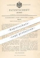 Original Patent - Actionscomité Patent Leinwather , Basel , 1892 , Möbelrolle   Möbel , Schrank , Rolle   Möbelbauer - Historische Dokumente