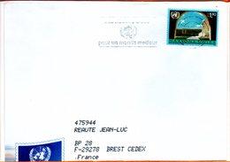 """Nations Unies, Lettre De Genève, Flamme """"pour Un Monde Meilleur"""" - Genf - Büro Der Vereinten Nationen"""