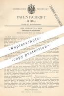 Original Patent - Emil Schrabetz , Wien , Österreich , 1882 , Ausflussventil   Ventil Aus Kautschuk   Ventile , Motor ! - Historische Dokumente