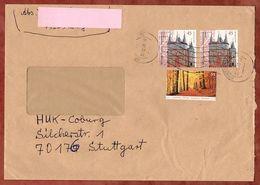 Brief, MiF Herbstwald Sk U.a., Koenigsbach Ueber Briefzentrum 75 Nach Stuttgart 2009 (70938) - BRD