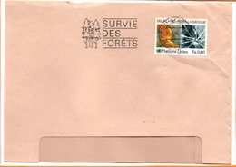 """Nations Unies, Lettre De Genève, Flamme """"survie Des Forêts"""" - Briefe U. Dokumente"""