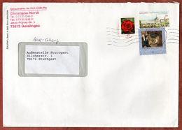 Brief, MiF Spitzweg Sk U.a., Geislingen Ueber Briefzentrum 73 Nach Stuttgart 2009 (70939) - BRD