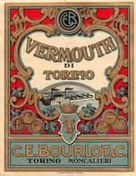 """07737 """"VERMOUTH DI TORINO - C. E. BOURLOT & C. - TORINO - MONCALIERI"""" ETICH. ORIG - Etichette"""