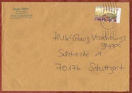 Brief, EF Hambacher Fest Sk, Deckenpfronn Ueber Briefzentrum 75 Nach Stuttgart 2009 (70940) - BRD
