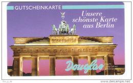 Allemagne - Douglas - Berlin Brandenburger Tor ( C ) - Carte Cadeau - Carta Regalo - Gift Card - Geschenkkarte - Cartes Cadeaux