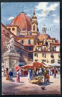 "CPA  H.B.Wimbush Signierte Color Raphael Tuck Künstlerkarte1920 ""Firenze-Piazza San Lorenzo,belebt,Nr.7988 ""1 AK Used - Ansichtskarten"