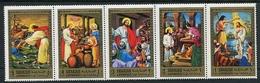 JESUS, JESUS CHRIST - SHARJAH MICHEL 748 / 752 MNH GOLD SERIE - LILHU - Cristianismo