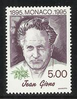MONACO , 5 Frs , Centenaire De La Naissance De Jean Giono , 1995 , N° YT 1986 , NEUF ** - Ungebraucht