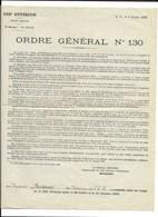 162e Division D'Infanterie... ORDRE GENERAL N° 130 3.10.1918 - Citations...Brigadier BOISSEAU 1er Escadron... - Documents
