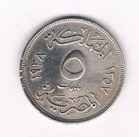 5 MILLIEMES  1938 EGYPTE /2401/ - Egypte