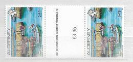 1991 MNH Alderney Gutter Pairs, Postfris** - Alderney