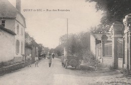 80250 QUIRY LE SEC - RUE DES RENAUDES En 1933 - France