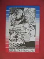 Carte Gravure Du Poinçon Original Du Timbre Création Des Départements Français à L'occasion Du Bicentenaire - Geschiedenis