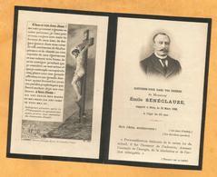 GENEALOGIE FAIRE PART DECES CARTE MEMOIRE  DEUX PERSONNES SENECLAUZE EMILE GEORGES 1899 - Obituary Notices