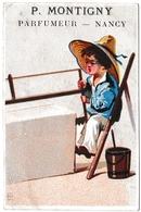 Chromolithographie P. Montigny Parfumeur Parfumerie NANCY Meurthe Et Moselle - Etiketten