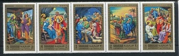 JESUS BIRTH / NACIMIENTO DE JESUS - SHARJAH MICHEL 737 / 741 MNH GOLD SERIE - LILHU - Cristianismo