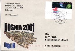 "(BWFP2) Sonder-Umschlag NATO BW SFOR Bosnia 2001 "" 24.1.01 FELDPOST 730 - BRD"
