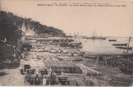 Bt - Cpa Martinique - ST PIERRE - La Place Bertin Avant La Catastrophe Du 8 Mai 1902 - Martinique