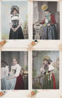 Bt - Lot De 14 Cpa Costumes Traditionnels De Suisse (Appenzell, Fribourg, Bern, Luzern, Zug, Glarus, Unterwalden, Aargau - Zwitserland