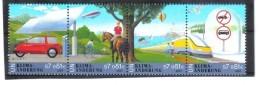 GUT1086 UNO WIEN 2001  MICHL 346/49 VIERERSTREIFEN ** Postfrisch Siehe ABBILDUNG - Wien - Internationales Zentrum