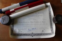 2 Diplômes Grand Officier Et Commandeur Pour Un Général De Division - Diplomas Y Calificaciones Escolares