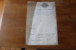 Diplome Militaire Certificat Mortuaire 1814  Napoleon - Documentos Históricos