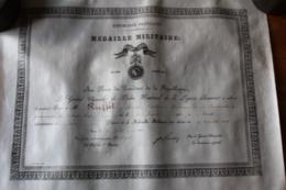 Diplome Militaire  Gendarme En INDOCHINE  1909 Sur Velin - Documentos Históricos