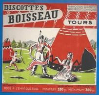 37 - TOURS - BUVARD ILLUSTRÉ - BISCOTTES BOISSEAU - LES INDIENS - RETOUR DE CHASSE - Biscottes