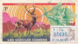 BL 02 / BILLET  LOTERIE NATIONALE   LES GUEULES CASSEES  ST HUBERT  1975 - Billets De Loterie