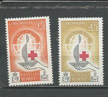 NOUVELLES HEBRIDES Scott F110-111 Yvert 199-200 (9) *VLH  11,00 $ 1963 - Légende Française
