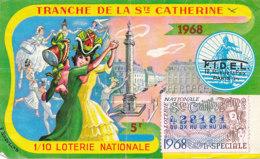BL 05 / BILLET  LOTERIE NATIONALE   TRANCHE  DE LA STE CATHERINE  1968 - Billets De Loterie