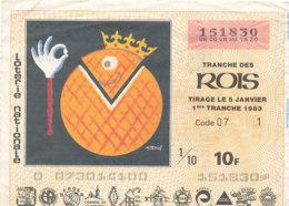 BL 12 / BILLET  LOTERIE NATIONALE  TRANCHE   DES ROIS    1983 - Billets De Loterie