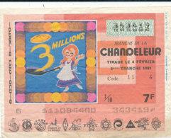 BL 13 / BILLET  LOTERIE NATIONALE  TRANCHE   DE LA CHANDELEUR    1981 - Billets De Loterie