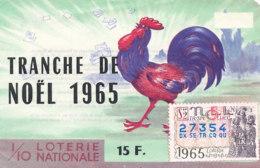 BL 14 / BILLET  LOTERIE NATIONALE  TRANCHE   DE  NOEL     1965 - Billets De Loterie