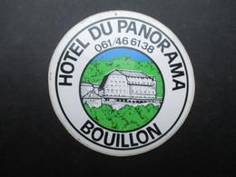 VP AUTOCOLLANT (M1905) BELGIQUE BOUILLON (1 VUE) HOTEL DU PANORAMA - Autocollants
