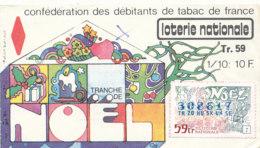 BL 18 / BILLET  LOTERIE NATIONALE  CONFEDERATION DES DEBITANTS DE TABAC DE FRANCE  TRANCHE DE     NOEL     1964 - Billets De Loterie
