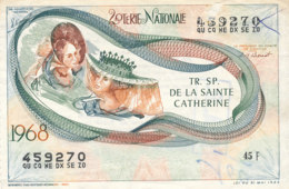 BL 23 / BILLET  LOTERIE NATIONALE      TRANCHE  DE LA SAINTE CATHERINE  1968 - Billets De Loterie