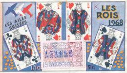 BL 24 / BILLET  LOTERIE NATIONALE   LES AILES BRISEES  LES ROIS 1968 - Billets De Loterie