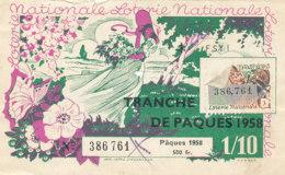 BL 29 / BILLET  LOTERIE NATIONALE   TRANCHE DE   PAQUES 1958 - Billets De Loterie