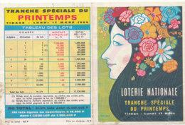 BL 33 / BILLET  LOTERIE NATIONALE  PUB  TRANCHE  SPECIAL DE PRINTEMPS  LUNDI 17 MARS 1969 - Billets De Loterie
