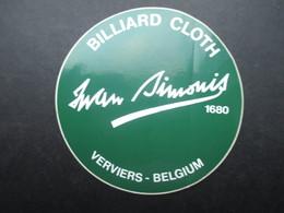 VP AUTOCOLLANT (M1905) BELGIQUE VERVIERS (1 VUE) BILLIARD CLOTH Swan Simonis 1680 - Autocollants