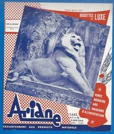 BUVARD - BISCOTTES DE LUXE  ARIANE - LION DE BELFORT -  RARE - Biscottes