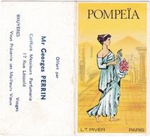 Calendrier 1977 Pompeïa LT. Piver Paris Parfum Parfumeur Parfumerie Coiffure Georges Perrin Bruyères Vosges - Perfume & Beauty