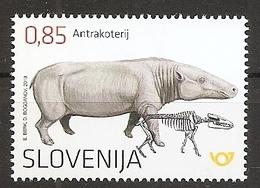 SLOVENIA 2019,FOSSIL MAMMALS OF SLOVENIA-ANTHRACOTHERE,MNH - Slovenia