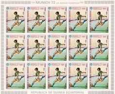 Guinea Ecuatorial Nº Michel 110 En Hoja De 15 Sellos - Guinea Ecuatorial